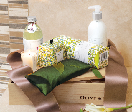 Laurel Leaf and Lemon Vine Spa Crate