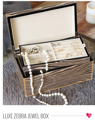 Luxe Zebra Jewel Box
