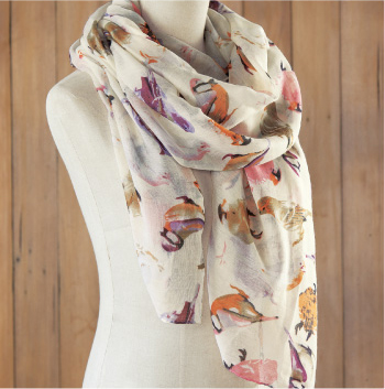 Pastel Songbirds Scarf