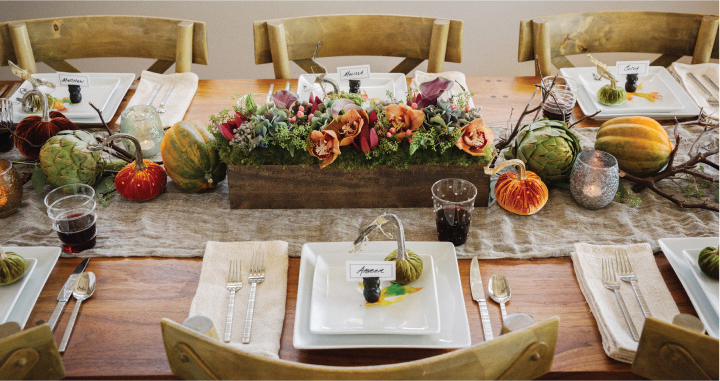 Elegant gifts for the thanksgiving table for Elegant table setting for thanksgiving