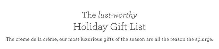 Holiday Gift List Title