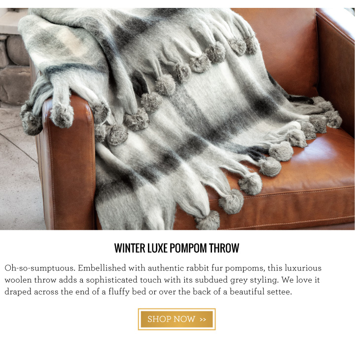 Winter Luxe Pompom Throw