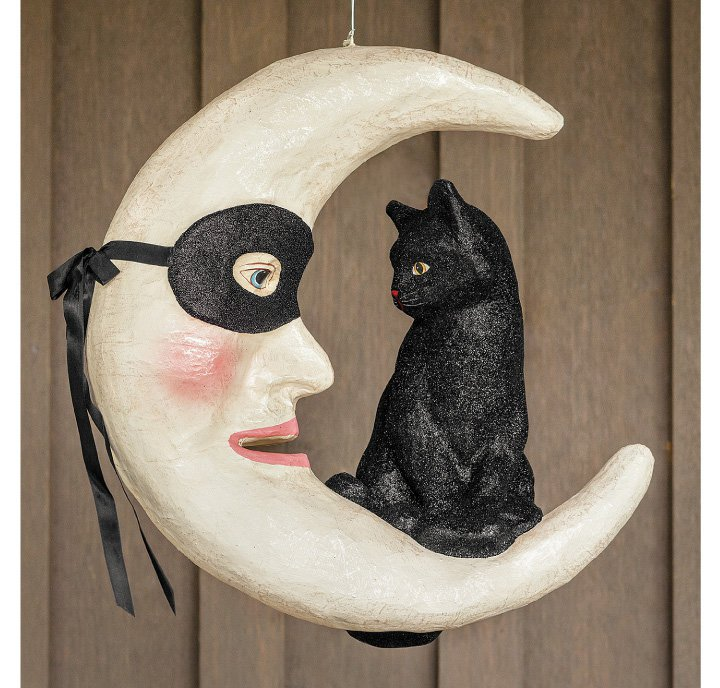 Chat Noir Hanging Moon