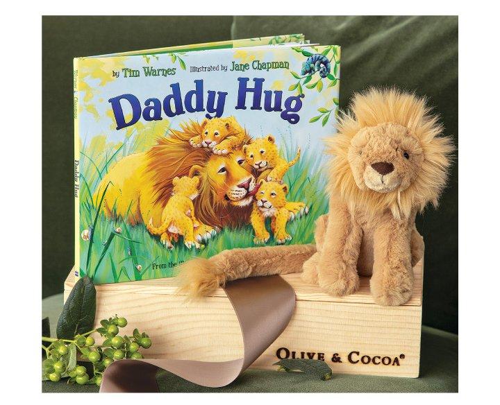 'Daddy Hug' Storybook & Lion
