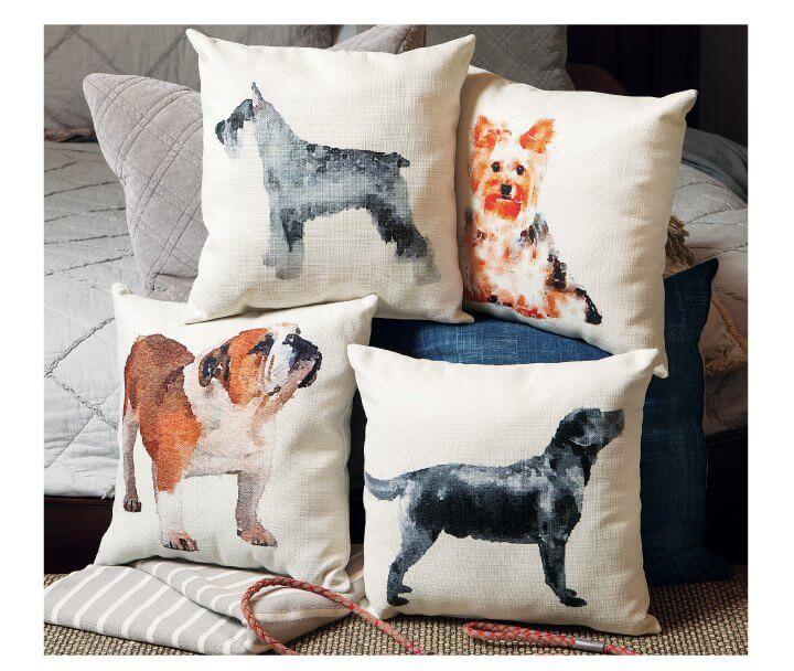 Watercolor Pup Pillows