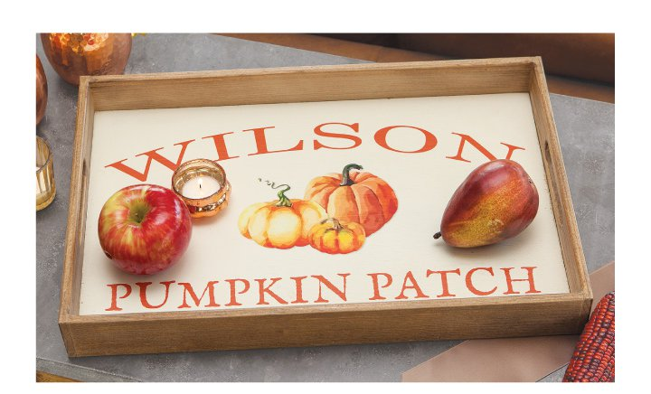 4   Pumpkin Patch Personalized Tray