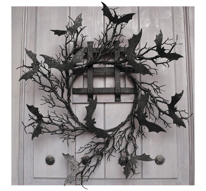 8   Twilight Bat Wreath