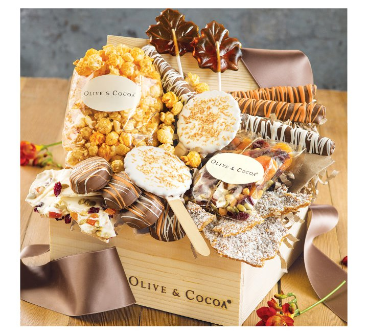 An image of Olive & Cocoa's Autumn Sweet Crate, the perfect Halloween Treat.