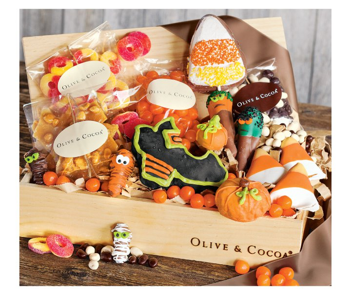 An image of Olive & Cocoas trick or sweets Halloween Candy Basket.