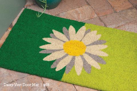Daisy Vert Door Mat