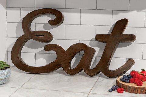 Eat Metal Sign