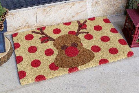 Red Nosed Reindeer Door Mat