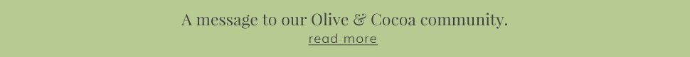 Message from Olive & Cocoa