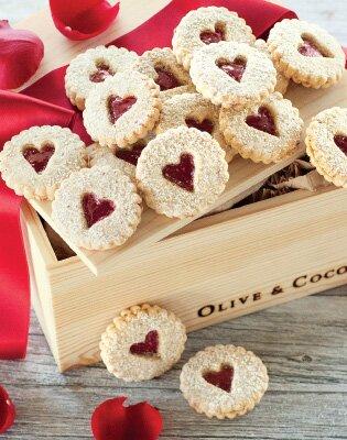 Heart Windowpane Cookies