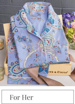 Periwinkle Paisley Pajamas
