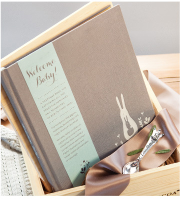 Heirloom Baby Boy Book & Spoon