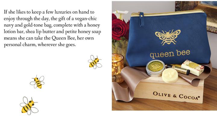 Queen Bee Beauty Bag