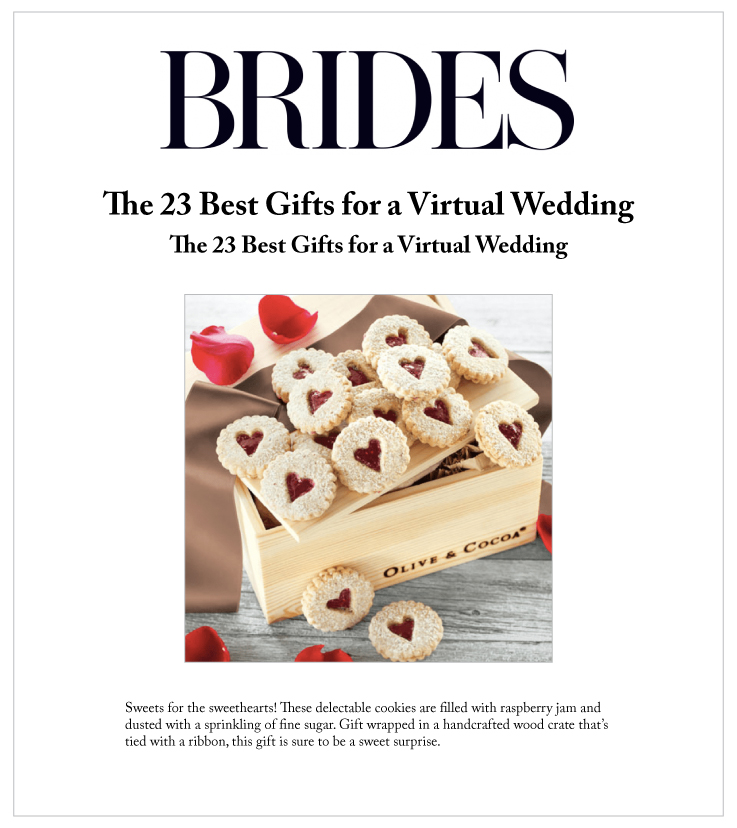 Our Heart Windowpane Cookies Featured On Brides.com