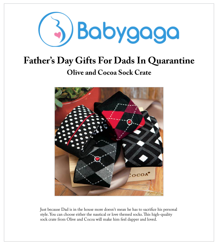Our Gentleman's Sock Crate Featured On BabyGaga.com