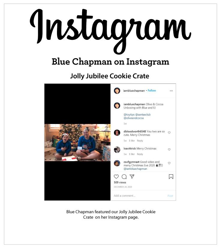 As Seen In Blue Chapman on Instagram 12.24.2021