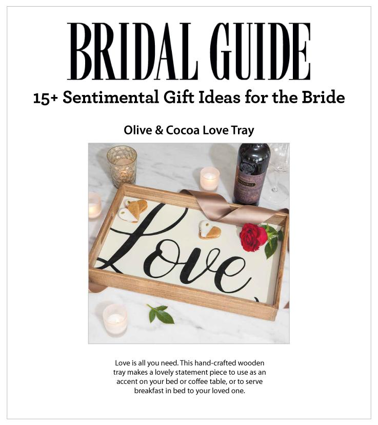 As Seen In Bridal Guide online 11.27.2020