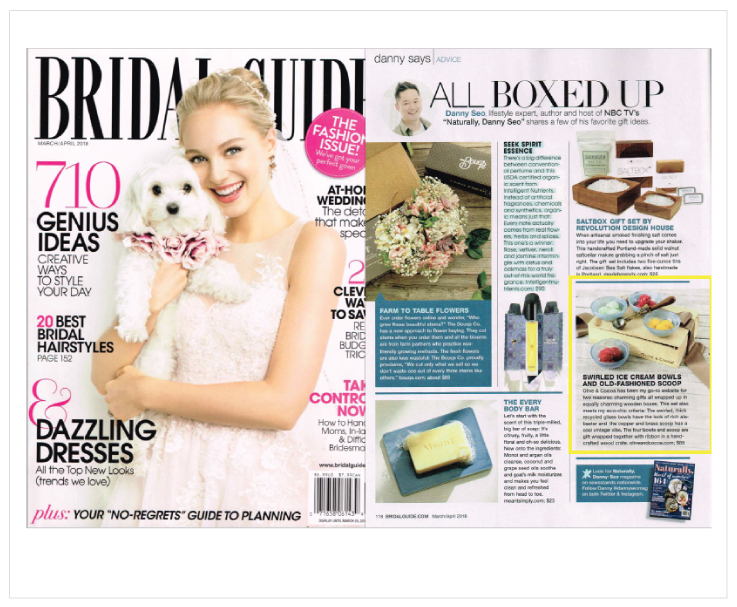 As Seen In Bridal Guide: Olive & Cocoa