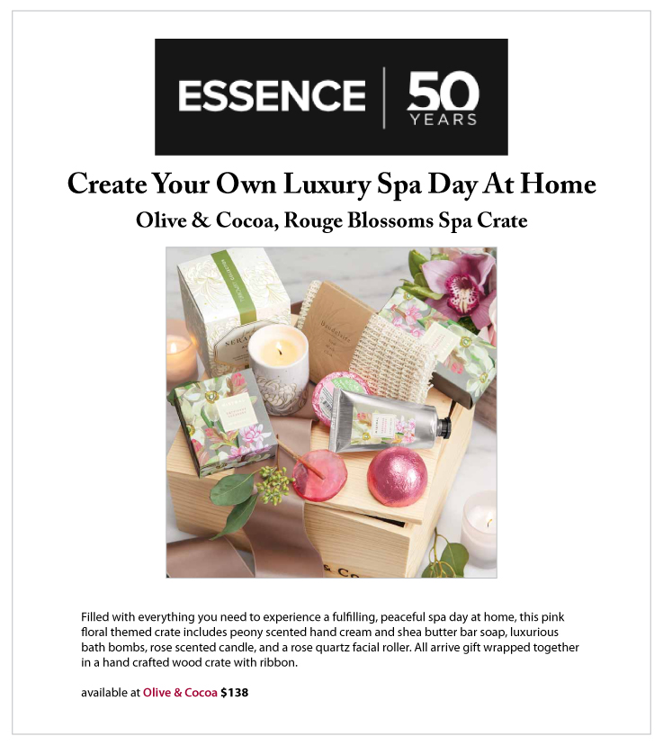 Our Rouge Blossoms Spa Crate Featured In Essence