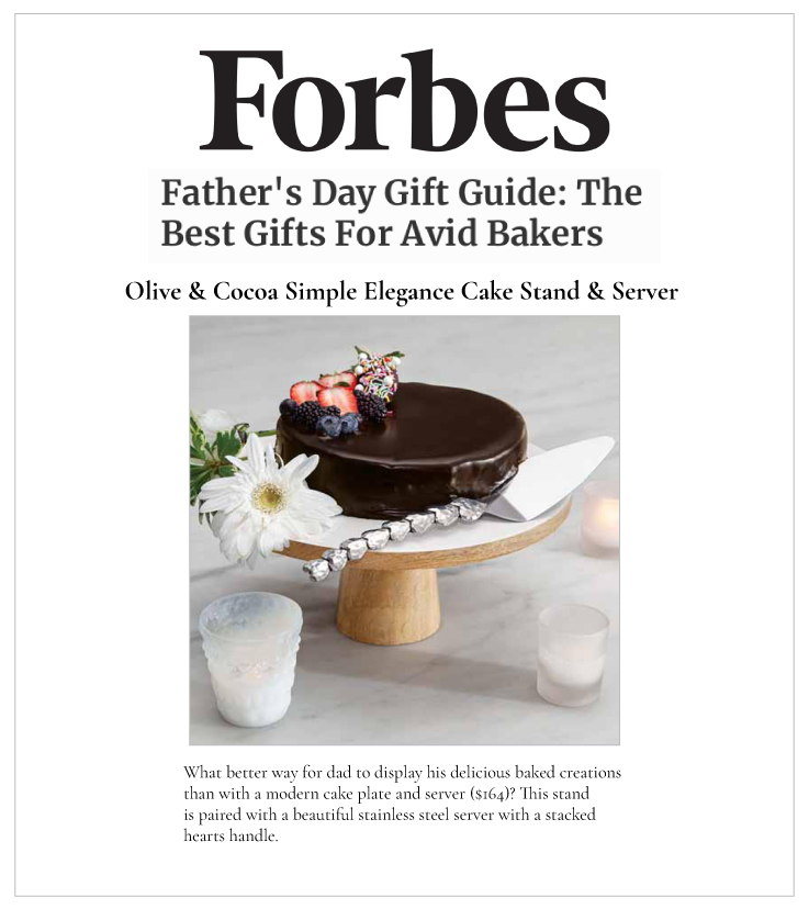 Our Simple Elegance Cake Stand & Server on Forbes.com