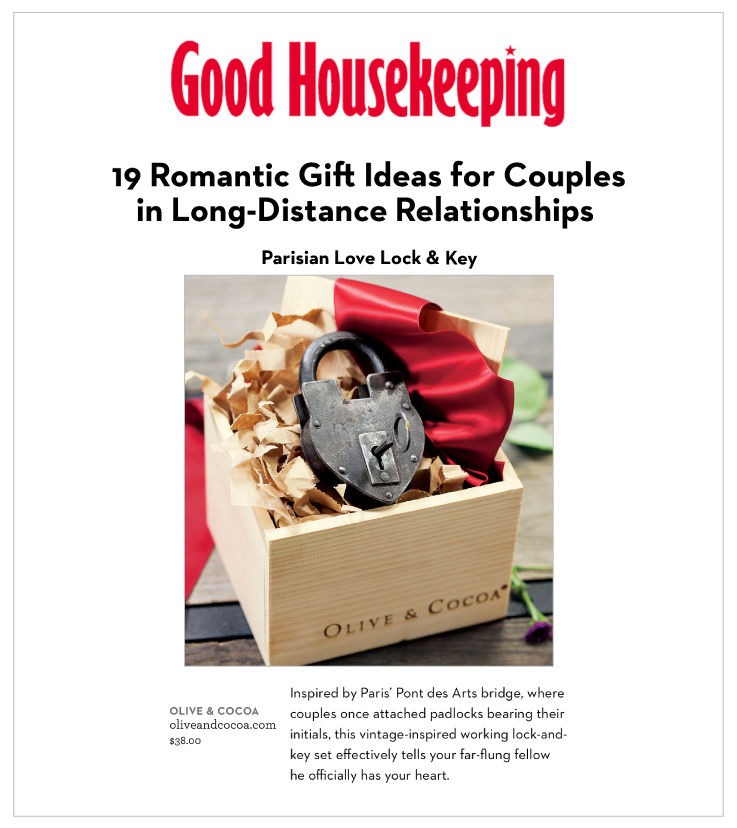 Parisian Love Lock & Key Featured on GoodHousekeeping.com