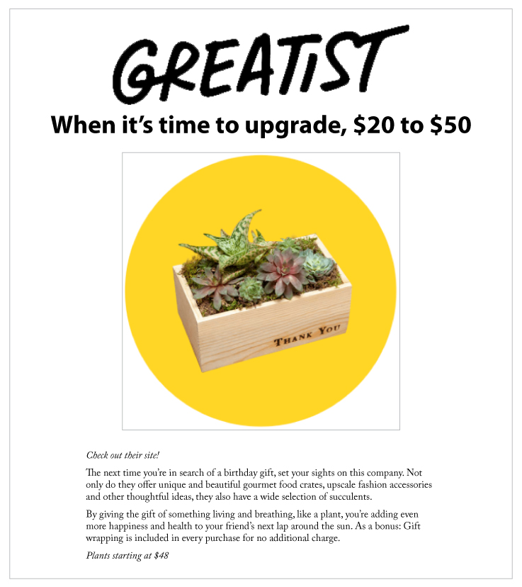 Our Floral & Succulent Arrangements Featured on Greatist.com