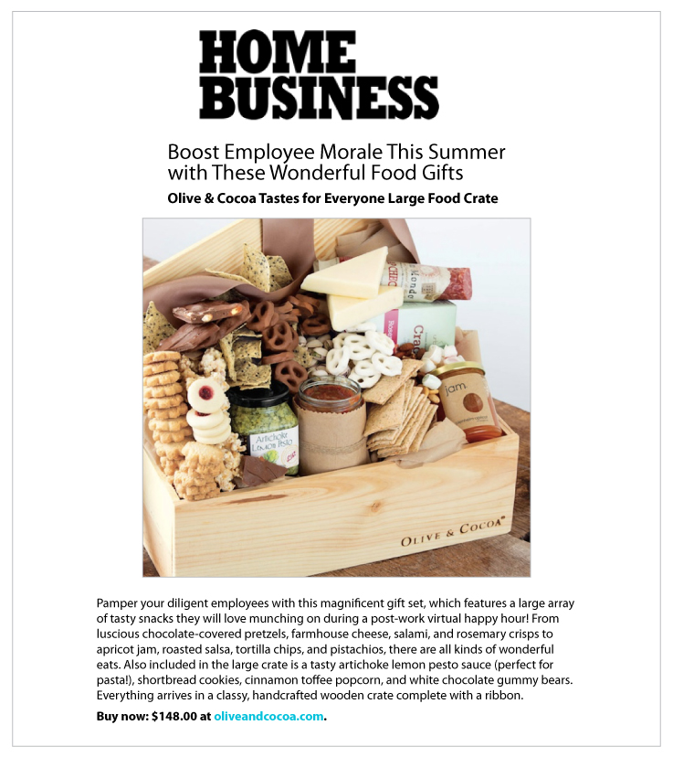 Our Tastes for Everyone Featured in Home Business Magazine