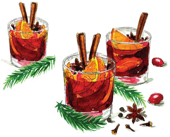 Hot Spiced Holiday Wine