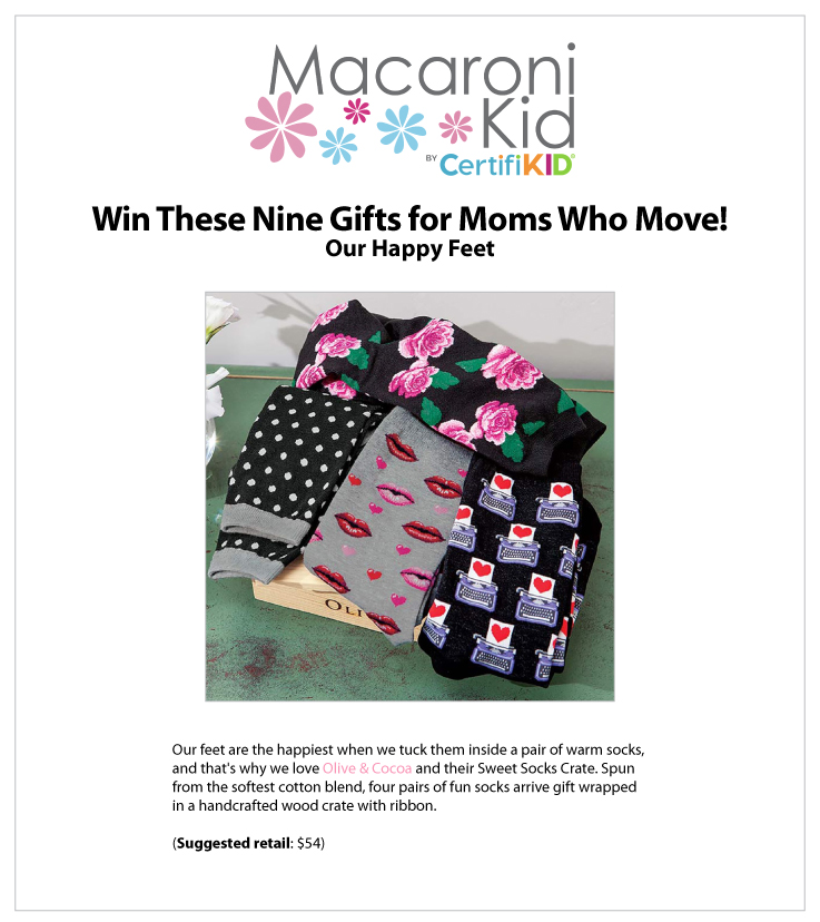 Our Sweet Socks Crate Featured on Macaroni Kid: Olive & Cocoa