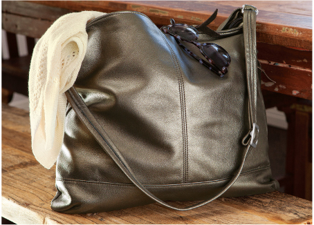 Sable Bronzed Shoulder Bag