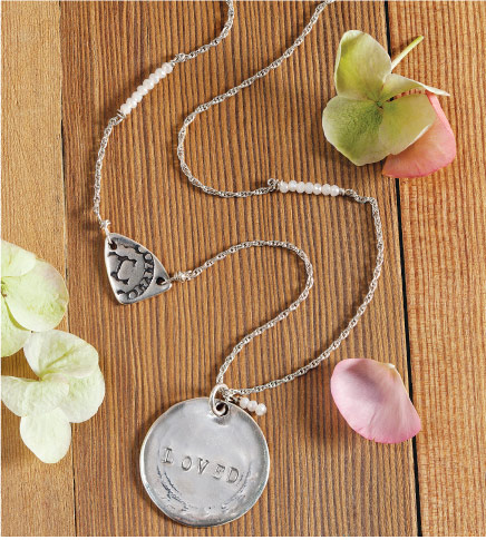 """Loved"" Coin Necklace"
