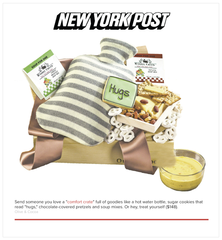 Olive & Cocoa in New York Post's NYpost.com in 1/18