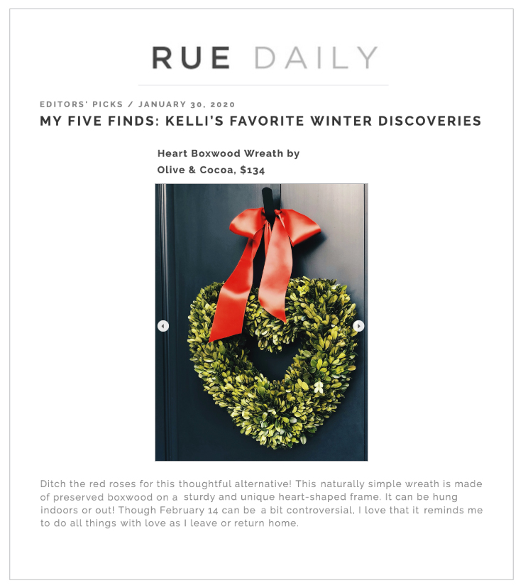 Our Heart Boxwood Wreath & Gummy Love Crate on RueMag.com