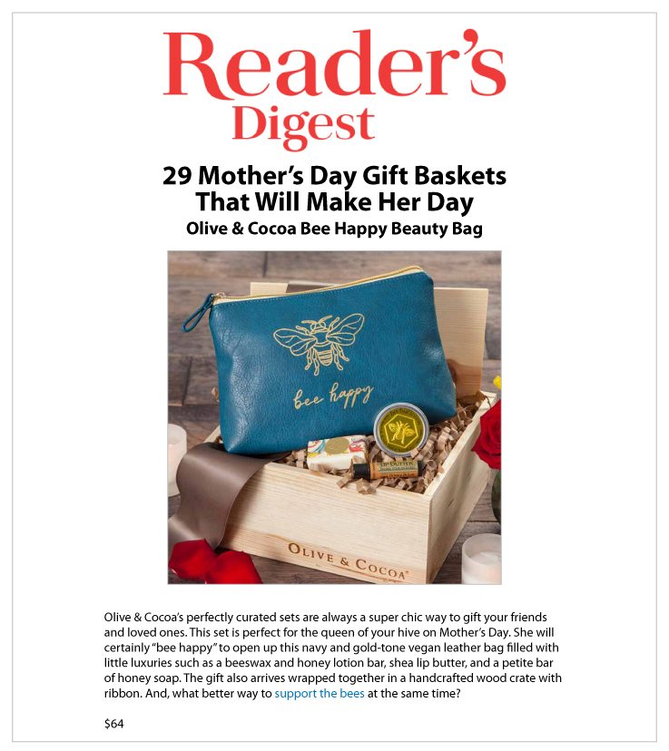 Our Bee Happy Beauty Bag Featured in Reader's Digest