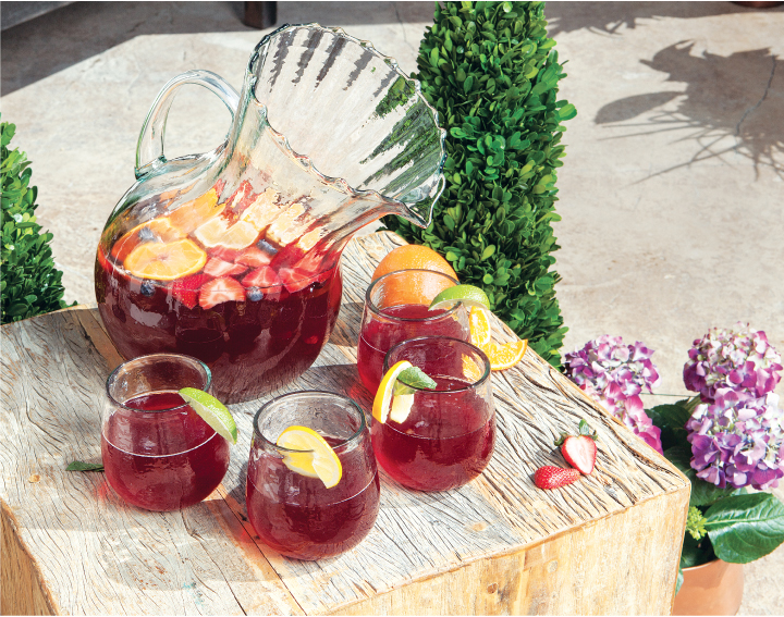 Fruity Fourth of July Sangria