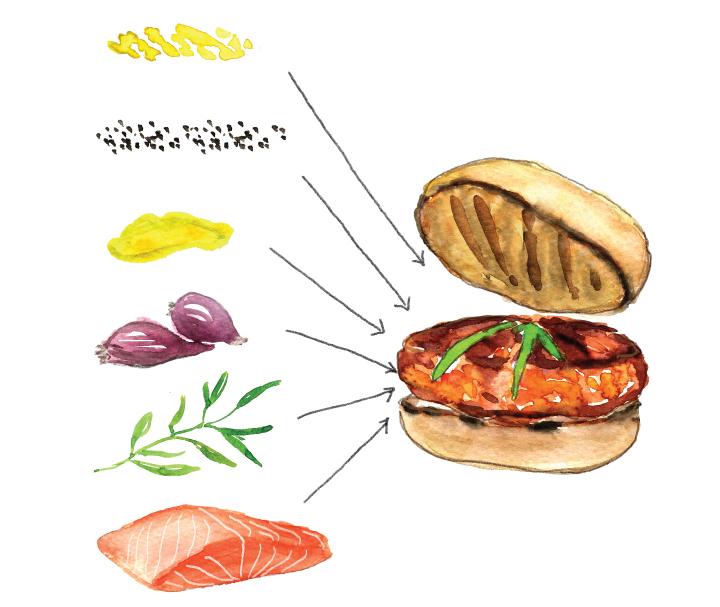 Savory Salmon Burger