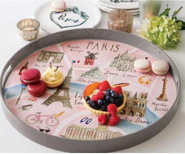 Playfully Paris Lacquered Tray