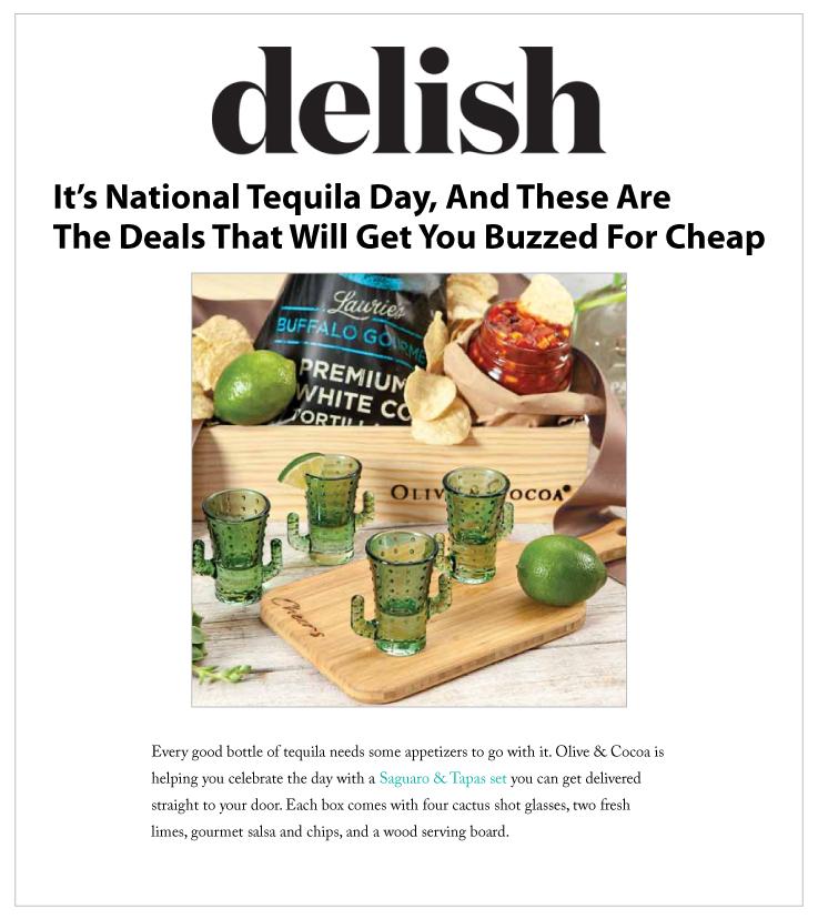 Our Saguaro & Tapas Set Featured on Delish.com: Olive & Cocoa