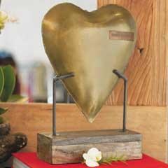 Forever Love Brass Heart
