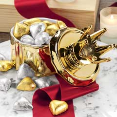 Queen Of Hearts Ceramic Crown Jar
