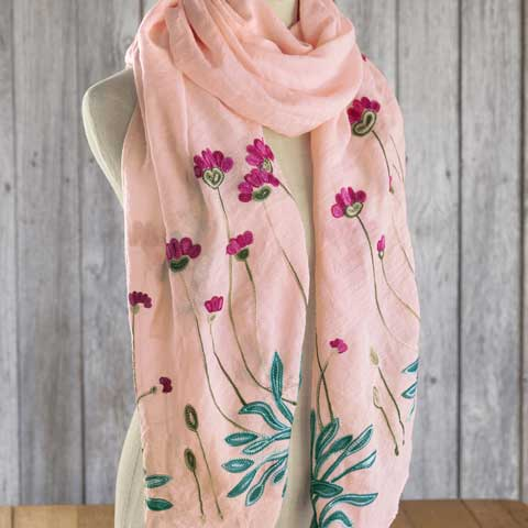 Queen Of Flowers Scarf, All Gifts: Olive & Cocoa