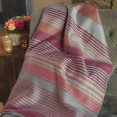 Guardsman Striped Alpaca Throw