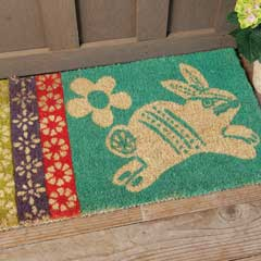 Spring Into Easter Door Mat