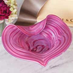 Artisan Heart Glass Bowl
