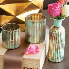 Viridian Vase And Votives