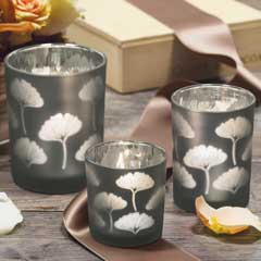 home decor and gifts. Ginkgo Votive Trio Unique Home Decor Gifts  for the Olive Cocoa